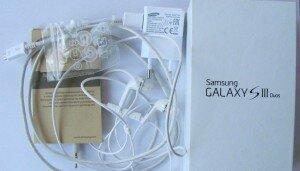 Комплектация телефона Samsung Galaxy S3 Duos