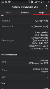 Samsung Galaxy Grand 2 Duos в тесте AnTuTu Benchmark 5.6